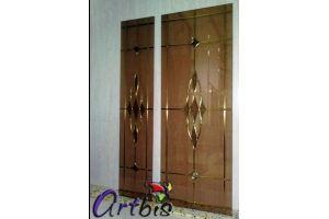 Витраж мебельный на бронзовом стекле - Оптовый поставщик комплектующих «Artbis»
