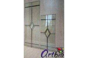 Витраж мебельный с фарцетом и контуром Платина - Оптовый поставщик комплектующих «Artbis»