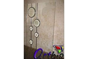 Витраж мебельный с круглыми фацетами - Оптовый поставщик комплектующих «Artbis»