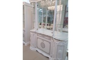 Витрина Гретта четверка серебро - Мебельная фабрика «Меридиан»