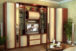 Вместительная гостиная Кристина 1 - Мебельная фабрика «СМ-Мебель»