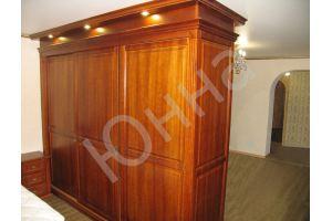 Вместительный шкаф в спальню - Мебельная фабрика «ЮННА»