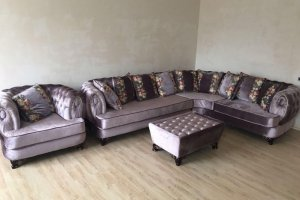 Войс угловой с креслом и пуфиком - Мебельная фабрика «Жалия»