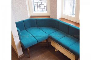 Встроенный диван SD-342 для эркера - Мебельная фабрика «Sofas&Decor»