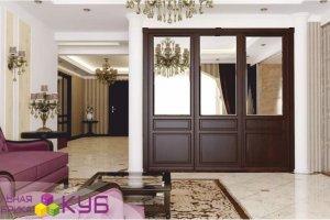 Встроенный шкаф с зеркалом - Мебельная фабрика «КУБ»