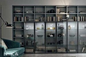 Встроенный стеллаж Брюссель STL5 - Мебельная фабрика «NIKA premium»