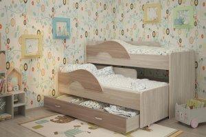 Выкатная кровать Радуга с ящиками - Мебельная фабрика «ТМК (Техномебель)»