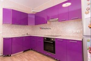 Яркая кухня Фиолетовый глянец - Мебельная фабрика «MaxiКухни»