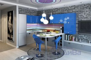 Яркая Кухня Фьюжн - Мебельная фабрика «ДиВа мебель»