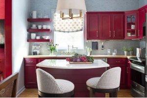 Яркая кухня из крашеного МДФ - Мебельная фабрика «Арт-Тек мебель»