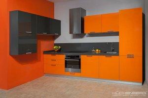Яркая оранжевая кухня GRAZIA - Мебельная фабрика «KUCHENBERG»