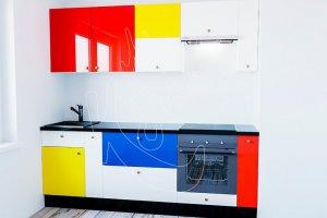 Яркая оригинальная кухня МОНДРИАНА - Мебельная фабрика «Моя кухня»