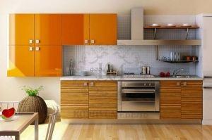 Яркая пластиковая кухня - Мебельная фабрика «Элна»