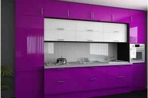 Яркая прямая кухня - Мебельная фабрика «ARC мебель»