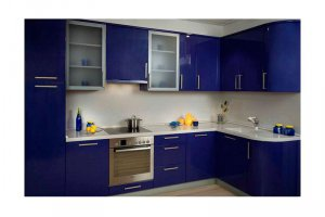 Яркая синяя кухня Мадина - Изготовление мебели на заказ «КухниДар»