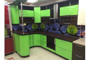 Яркая угловая кухня - Мебельная фабрика «Аледо»