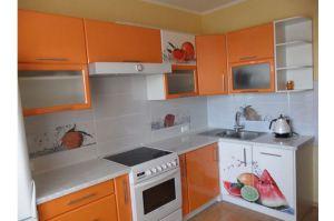 Яркая угловая кухня с фотопечатью - Мебельная фабрика «Сиб-Мебель»