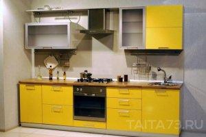 Яркая желтая кухня - Мебельная фабрика «Таита»