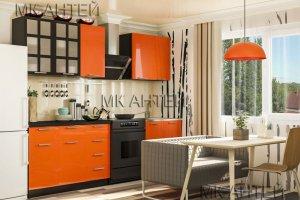 Яркий оранжевый Кухонный гарнитур Эвкалипт - Мебельная фабрика «Антей»