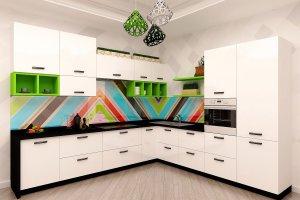 Яркий Угловой кухонный гарнитур - Мебельная фабрика «Акварель»