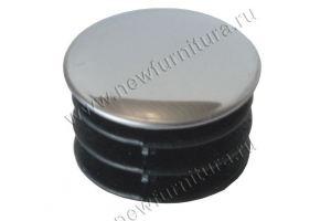 Заглушка для трубы d25 мм плоская - Оптовый поставщик комплектующих «Фурнитекс»