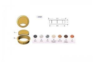 Заглушка пластиковая из трех частей для комп-каб MESAN 013701 - Оптовый поставщик комплектующих «СЛ Дон»