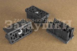 Заглушка с резьбой М10 под трубу 40х80 мм Артикул 40-80М10ЧН - Оптовый поставщик комплектующих «Заглушки»
