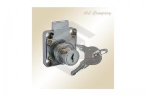 Замок мебельный 138-M хром (металл ключ) - Оптовый поставщик комплектующих «АэЛь Компани»
