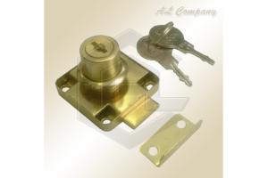 Замок мебельный 138 золотой - Оптовый поставщик комплектующих «АэЛь Компани»
