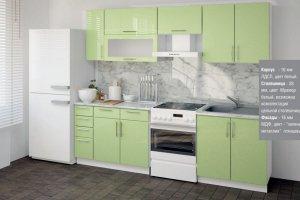 Зеленая глянцевая кухня - Мебельная фабрика «Влад»