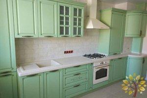 Зеленая кухня - Мебельная фабрика «Эльф»