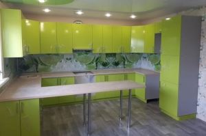 Зеленая кухня - Мебельная фабрика «Гранд Мебель»