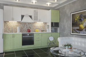 Зеленая модульная кухня Парма - Мебельная фабрика «ЛЕКО»