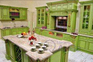 Зеленая модульная Винтажная кухня - Мебельная фабрика «ДиВа мебель»