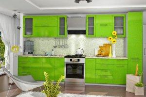 Зеленая прямая кухня - Мебельная фабрика «МЫ (ИП Золотухин С.В.)»