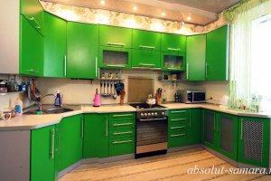 Зеленая угловая кухня - Мебельная фабрика «Абсолют»