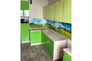 Зеленая угловая кухня - Мебельная фабрика «Апрель»