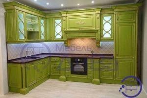 Зеленая Винтажная кухня - Мебельная фабрика «ДиВа мебель»