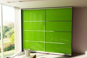 Зеленый шкаф-купе 5 - Мебельная фабрика «Вертикаль»