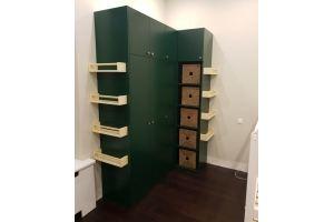 Зеленый угловой шкаф - Мебельная фабрика «Красивый Дом»