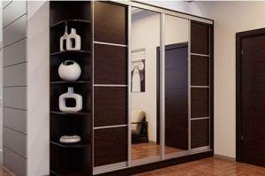Зеркальный шкаф-купе с полками - Мебельная фабрика «Подольск»