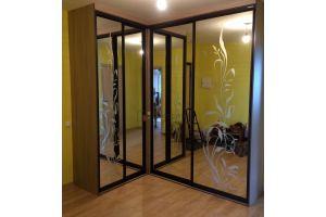 Зеркальный угловой шкаф-купе - Мебельная фабрика «Алгоритм»