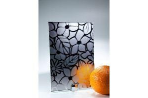 Зеркало сатинированное с узором SMC-014 графит - Оптовый поставщик комплектующих «Адэм glass»