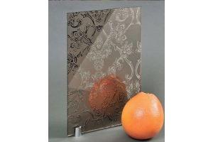 Зеркало сатинированное с узором SMC-181 бронза - Оптовый поставщик комплектующих «Адэм glass»