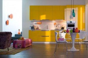 Желтая яркая кухня ПАРМА - Мебельная фабрика «BestLine»