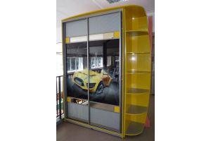 Желтый шкаф-купе с фотопечатью - Мебельная фабрика «Стрела»