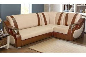 Жесткий угловой диван Аллегро 2 - Мебельная фабрика «Элегантный Стиль»