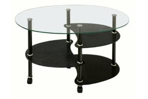 Журнальный стеклянный стол Рио - Мебельная фабрика «Мебель из стекла»