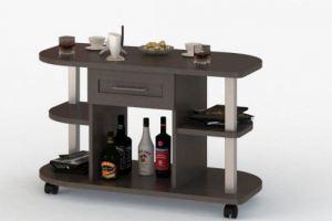Журнальный стол с открытыми полками и выдвижным ящиком СОЛО 039 - Мебельная фабрика «Балтика мебель»