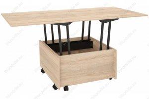Журнальный стол Трансформер сонома 294588 - Импортёр мебели «Woodville»